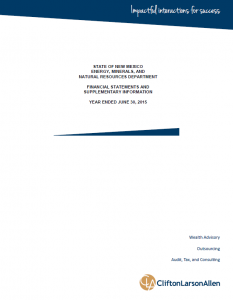 2015 Financial Statement Cover