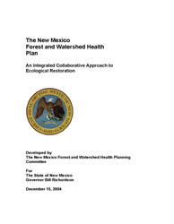 Forest and Watershed Health Plan Cover Page