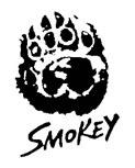 Smokey Bear logo with paw print