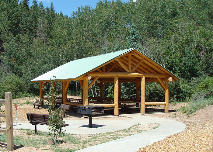 Shelter and grill