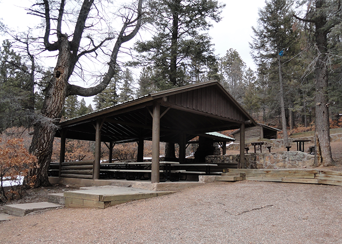Dark wood shelter