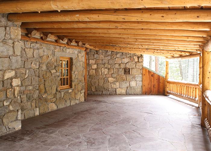 Inside entrance of lodge