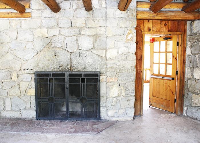 Entrance fireplace
