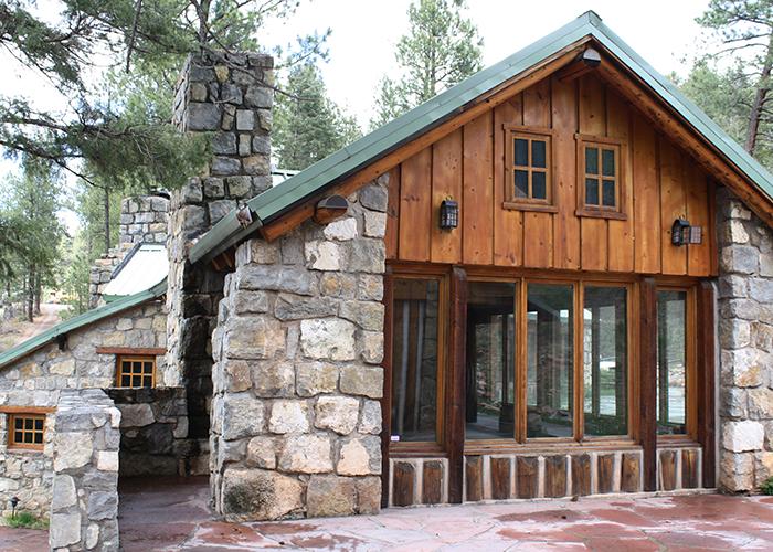 Back of lodge