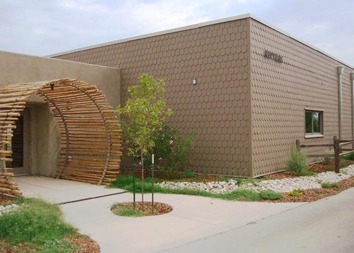 Reptiles building entrance