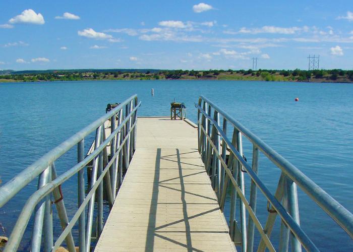 Bridge and dock