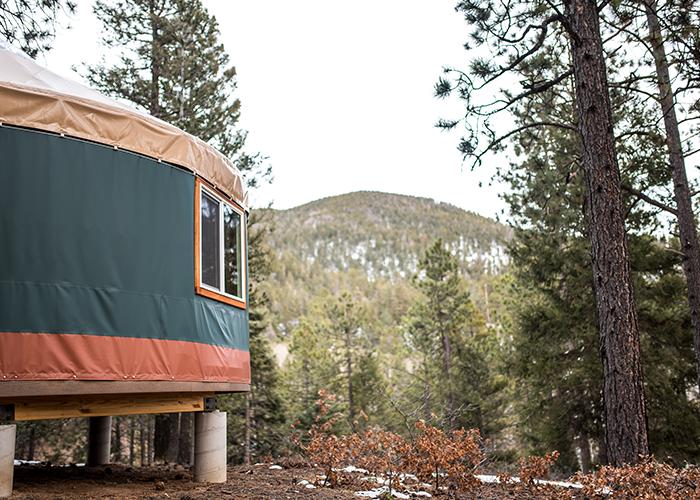 Back of yurt
