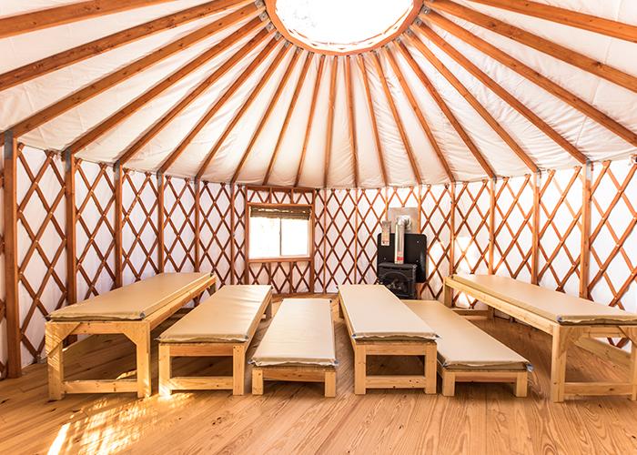 Seating in yurt