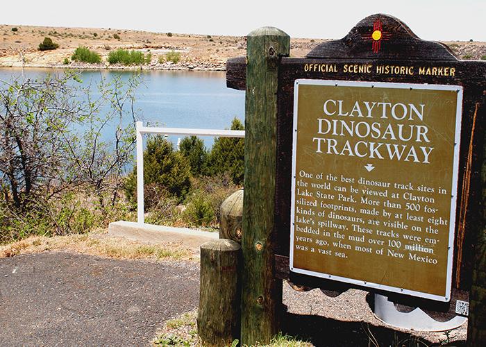 Dinosaur Trackway sign
