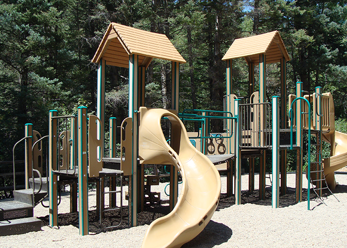 Playground with two slides