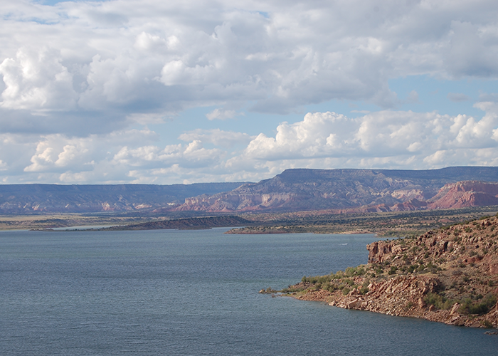 Navajo Lake and mountains