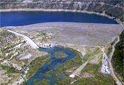 Skyview of Navajo dam