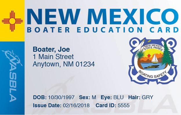 NM Boater Edu Card