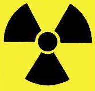 Yellow and black radioactive symbol